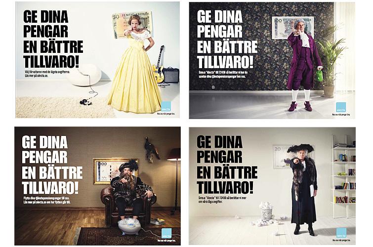 Alecta, advertising, 2010.