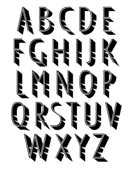 Cut, typeface.