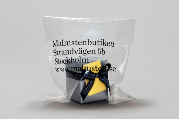 Packaging for Malmstenbutiken.
