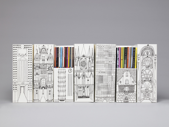 Magazine files for the Museum of Architecture Shop, 2007. Together with illustrator Klas Fahlén.