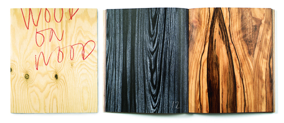 »Wood on wood«, a book full of wood. Direct marketing for Arctic Paper, 2003.