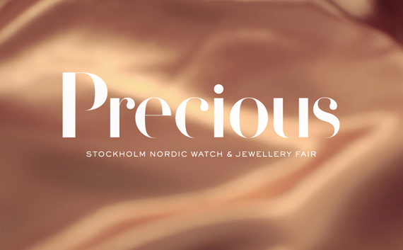Precious Stockholm Nordic Watch  & Jewellery Fair – Logotype and visual identity, 2012