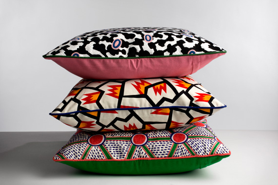Nathalie Du Pasquier. Cushions, Wrong for Hay, 2013.